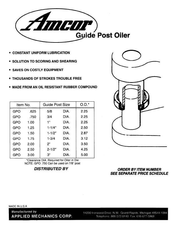 Guide Post Oiler