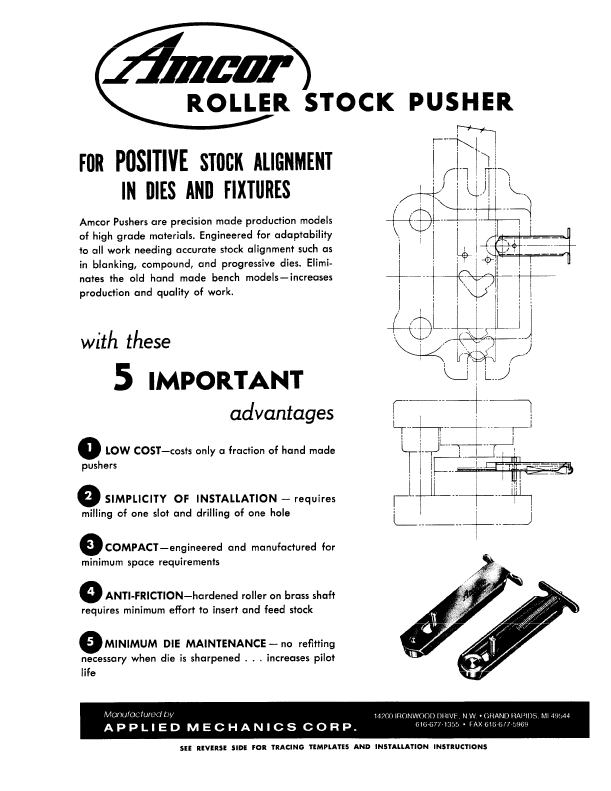 Roller Stock Pusher